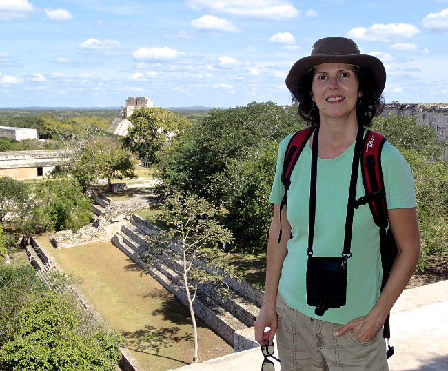 Marie-France Roy at Uxmal, Mexico