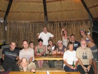 Tour group in Namibia