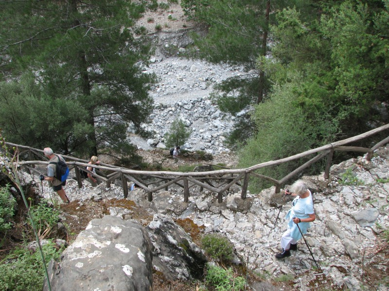 Descent into the Samaria Gorge, Crete
