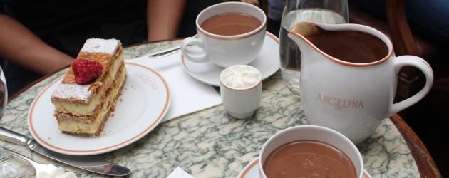 Decadent hot chocolate, Paris