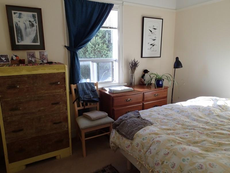 Bedroom with comfy bed