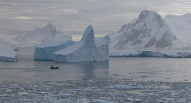 Giant icebergs, Lemaire Channel, Antarctica