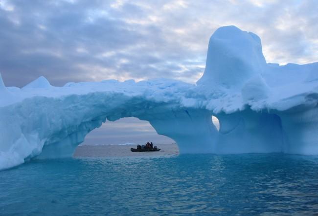 Mushroom-shaped iceberg, Antarctica