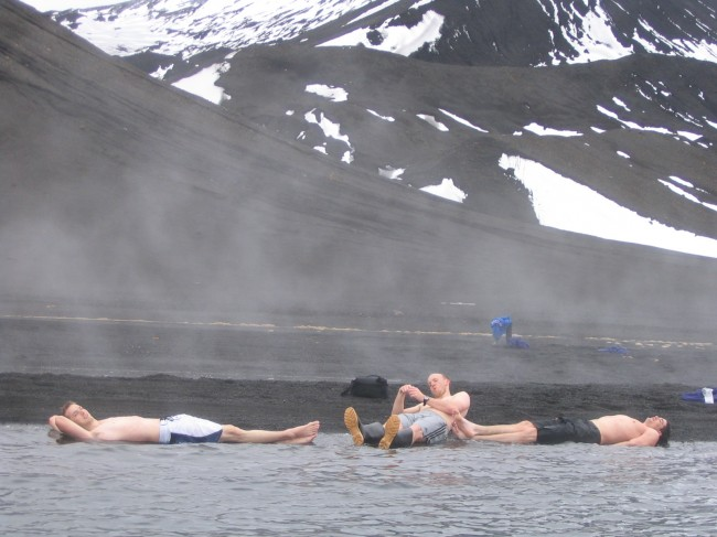 Geothermal beach, Deception Island, Antarctica