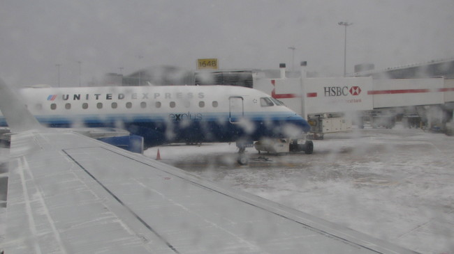 Typical winter departure day