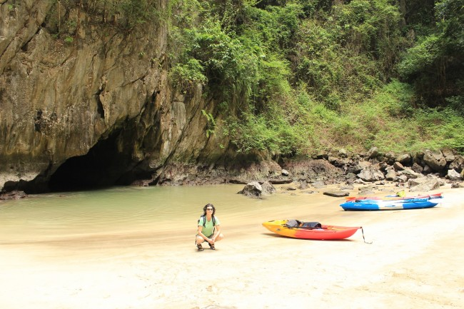 Here I am in Emerald Cave! (Koh Mook)