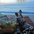 Sipping a mojito on Ko Lanta at sunset