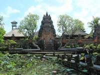 Ubud Water Temple and lotus pond