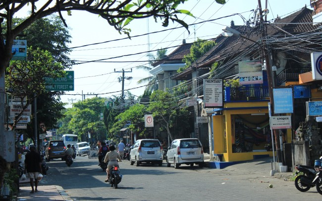 Main street, Ubud Bali