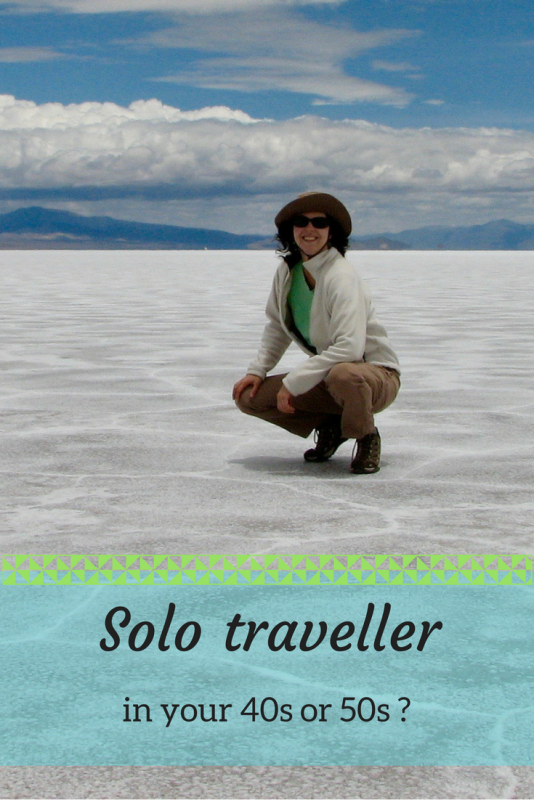 Solo traveller in your 40s or 50s