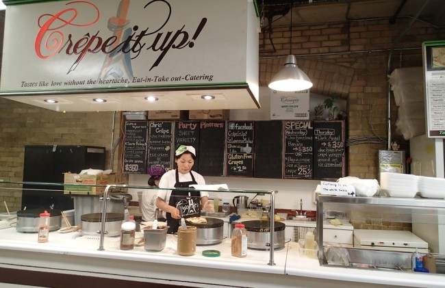 Crepe It Up! St Lawrence Market Toronto