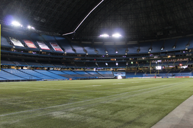 Inside skydome, Toronto