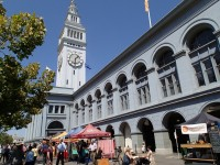 Farmer's Market outside Ferry Building SF