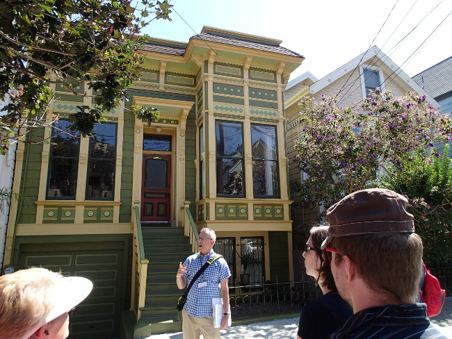"Example of Victorian ""stick"" architecture, Castro"