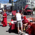Red cross-dresser