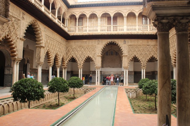 Alcazar's Patio de las Doncellas (2 days in Seville)