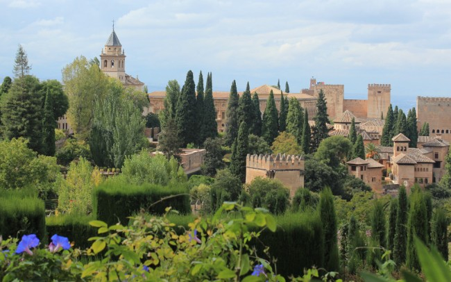 Looking back to the Alhambra