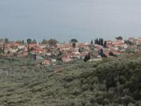 A coastal village amidst the olive trees