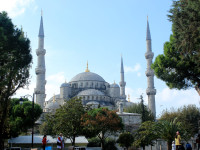 The Blue Mosque - you don't need a carpet shop seller to find it!