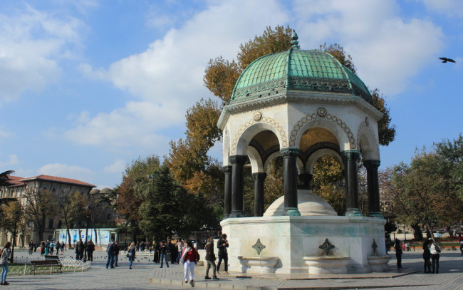 A fountain donated by the Germans on the hippodrome (Sultanahmet, Istanbul)