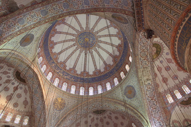 Inside the Blue Mosque (Sultanahmet, Istanbul)