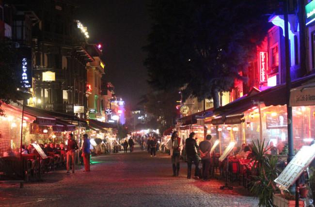 Restaurant street in Sultanahmet