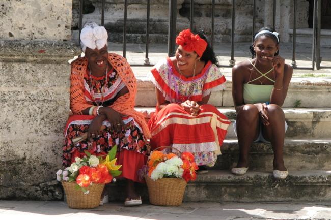 Flower sellers, La Habana (Cuba)
