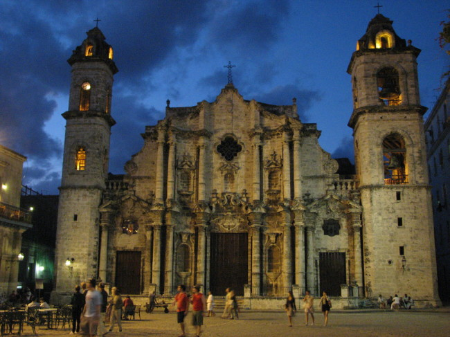 Colonial church in La Habana (Cuba)