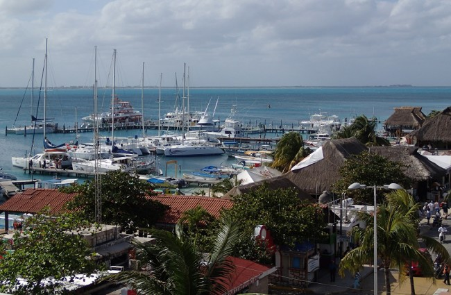 View from the top floor of my hotel (Isla Mujeres)