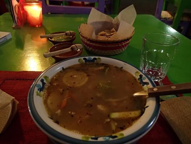 Sopa de lima, a local specialty (Isla Mujeres)