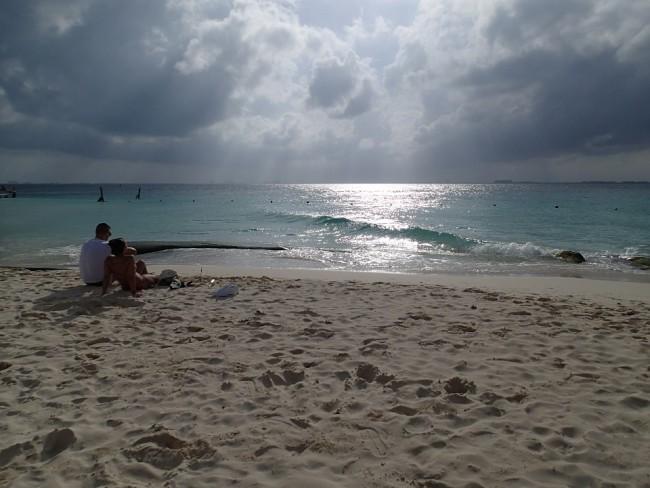 My favourite spot on Playa Norte (Isla Mujeres)