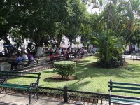 A corner of the main plaza (Merida)
