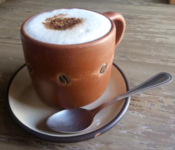 Blason cappuccino, Oaxaca (best coffee in Oaxaca)