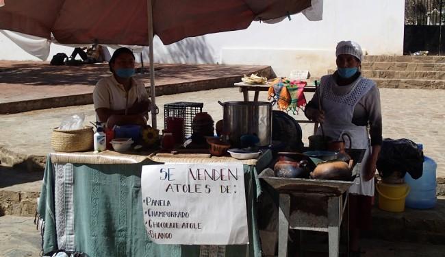 Stall at organic market El Pochote (Oaxaca)