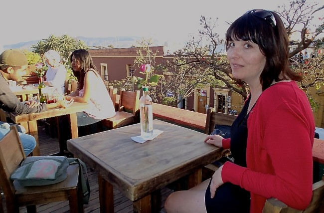 Having drinks with Josée