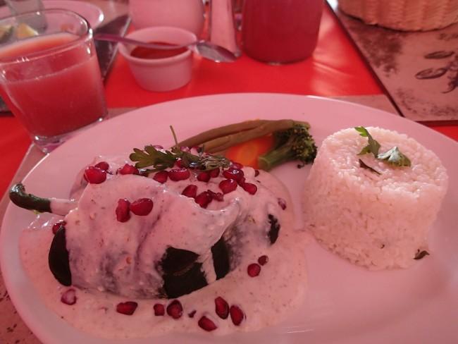 Chile en nogada, my favourite Mexican dish (Casa del tio guero, Oaxaca)
