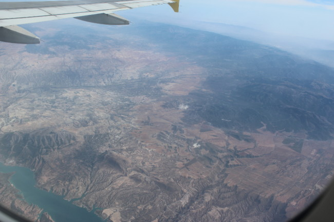 Flying over Spain on Vueling