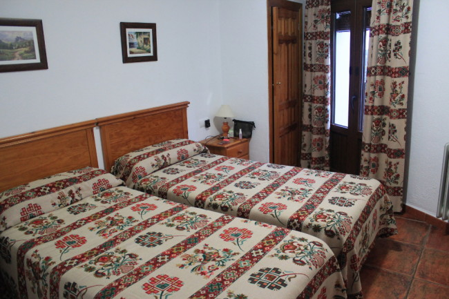 Twin room in Capileira, Spain