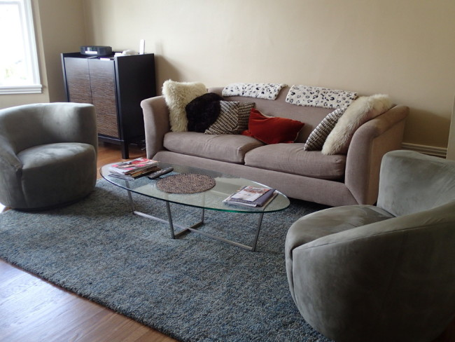 My living room for 3 weeks in San Francisco (house and cat-sitting)