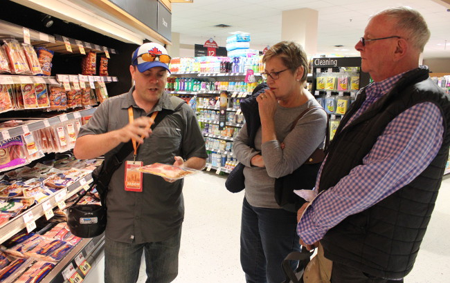Getting the lowdown on Canadian bacon inside a Toronto grocery store