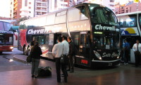 """Cama"" bus in Argentina (let's you sleep horizontally)"