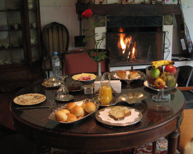 Nice breakfast spread at a B&B in Salta, Argentina