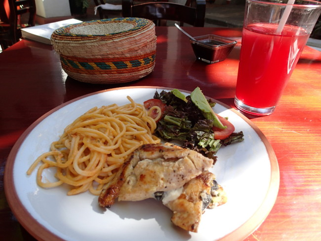 This $5 set meal in Mexico included soup, main course, juice, tortillas, and small desert !