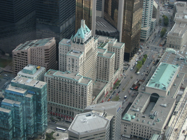 Downtown Toronto from above