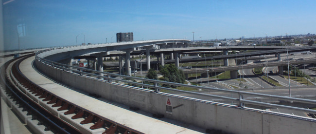 Rail bridge to Pearson Airport (Toronto)