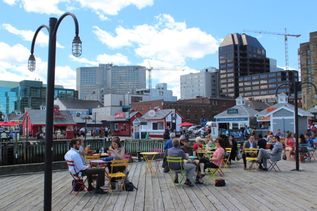 Eating area on the waterfront (Halifax)