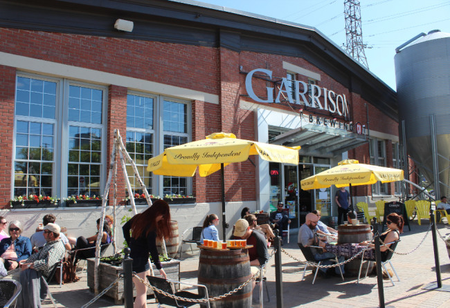 The patio of Garrison Brewing Co. (Halifax)