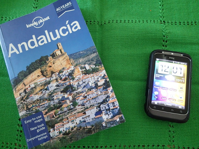 travel guidebook versus mobile device