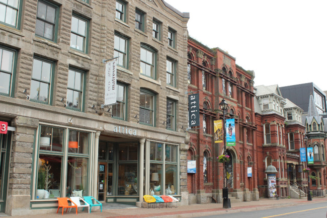 Barrington Street, one of downtown's main arteries (Halifax)