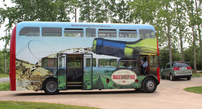 The Wolfville Magic Winery Bus (Nova Scotia)